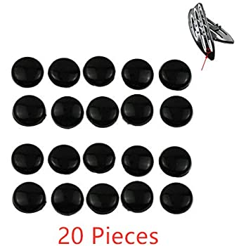 20X Gloss Black Rubber Pads harley foot rest footboards rubber pads Deep cnc cut Floorboards rubber pads
