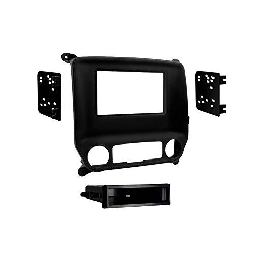 Metra 99-3014G Chevy Silverado and Sierra 2014-UP Single DIN/Double DIN (Black) ()