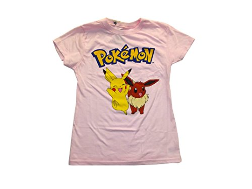 Childrens Pink Pokemon Pikachu and Eevee Shirt Photo - Pokemon Gaming