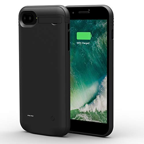 Battery Case Compatible for iPhone 8/7/6/6S, Attom Tech Light-Weight 3000mAh Ultra Slim Portable Charging Case Charger Support Audio/Data Sync Extended Battery Bank