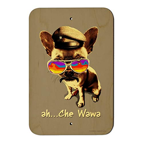 (GRAPHICS & MORE Ah Che Wawa Chihuahua Dog Vintage Retro Home Business Office Sign - Wood - 6