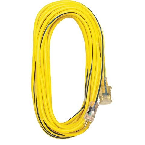 Voltec 05-00365 50 ft. SJTW Outdoor Extension Cord With Lighted End - Yellow-Blue44; Case Of 4 by Voltec