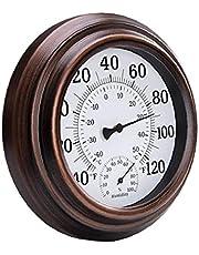 Vägg grad hygrometer inomhus utomhus rund urtavla luftfuktighetsmätare temperaturmätare hemtillbehör