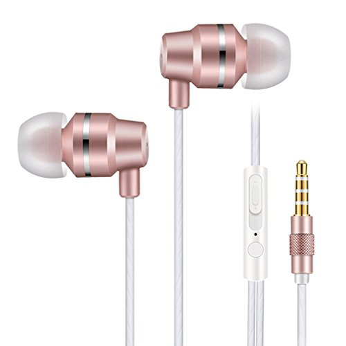 Vetung In ear Headphones wired earphones Bass Stereo Earbuds Noise cancelling Headsets with Microphone Button Control Volume control For iPhone iPad iPod Android Smartphones Mp3 Player Etc ()