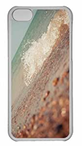 Customized iphone 5C PC Transparent Case - Wave 5 Personalized Cover