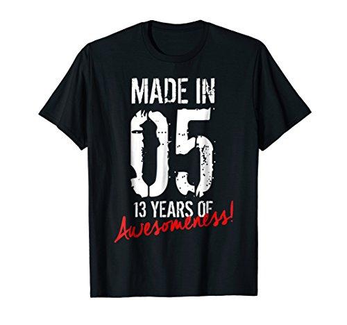13th Birthday Gift Shirt 13 Years Of Awesomeness Tee