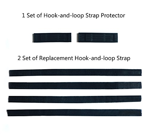 yabbay Replacement Hook-and-Loop Strap and Hook-and-Loop Strap Protector for Hover Kart,Hoverboard Kart