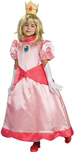 [Super Mario Brothers Child's Deluxe Costume, Princess Peach Costume- Large] (Mario Princess Peach Costumes)