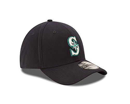 New Era MLB Seattle Mariners Team Classic Game 39Thirty Stretch Fit Cap, Blue, Small/Medium (New Era 39thirty Mariners)