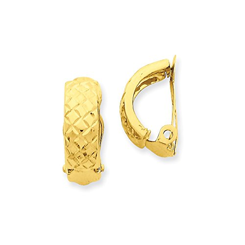 14k Gold Non-Pierced Earrings (0.71 in x 0.24 in) by PriceRock