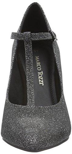 Escarpins 24401 Grey Marco Metallic Femme Gris 297 Tozzi wUaqvO