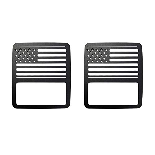 XBEEK Tail Light Cover Guards Protectors for 2018 Jeep Wrangler JL Sport S Sport Accessories – Pair of American US Flag