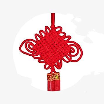 Chinesische Knoten Anhänger Haus Zubehör Blessing Wort Eingang ...