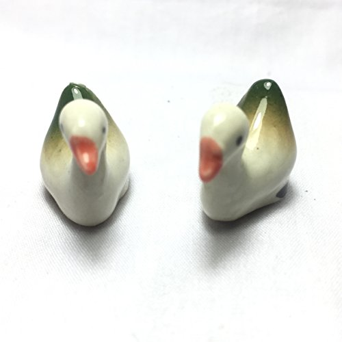 2 Pcs DUCK DOLL MINIATURE PORCELAIN DOLL HOUSE HAND-PAINTED TOYS TINY - Victoria Glass Tx