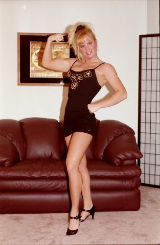 Muscular college girl