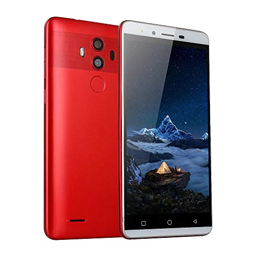 Unlocked Smart Phone | Inkach 5.5 inch Android 5.1 Quad-Core Processor 512MB RAM / 4G ROM Mobile Phone | Dual Camera, Dual SIM Card 3G WiFi GPS Cell Phones (Red)