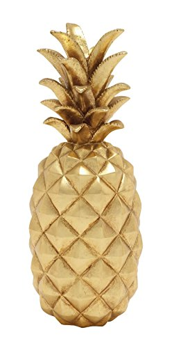 Deco 79 62361 Poly Stone Gold Pineapple Home Decor Product