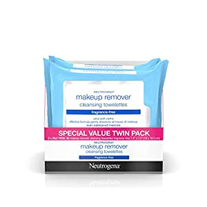 Neutrogena Cleansing Fragrance Free Makeup Remover Facial Wipes, 25 Count, 2 Packs