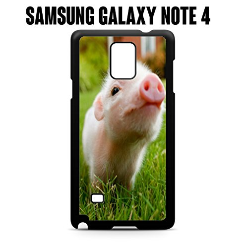 Phone Case Cute Piglet Baby Pig for Samsung Galaxy Note 4 Rubber Black (Ships from CA) (Pig 4 Case Note Baby)