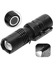 Dimbare zaklamp, led-mini-zaklamp, waterdicht, dimbaar, 5 modi, lange-afstandslamp met magneet voor camping buitenshuis, wandelen, 1000lm -16340 CR123A