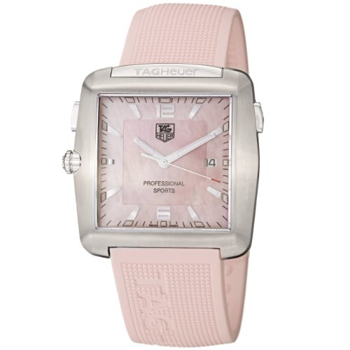 TAG Heuer Women's WAE1114.FT6011 Tiger Woods Professional Rubber Sports Watch