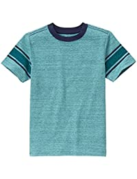 Gymboree Big Boys' Turq Slub Bluestripe Tee