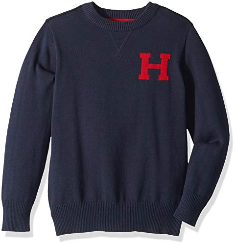 Tommy Hilfiger Toddler Boys' Long Sleeve Crew-Neck Sweater, Original Swim Navy, 4T