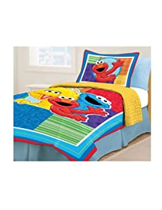 amazon com sesame street twin bed set home kitchen 11507 | 41li7muotcl sy300