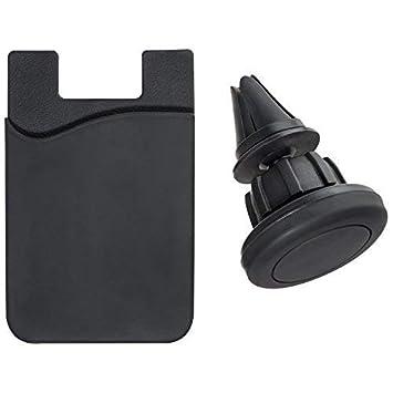 Soporte magnético de silicona para sujetar el teléfono móvil en el coche: Amazon.es: Electrónica
