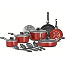 15-Piece Select Non-Stick Cookware Set, Red