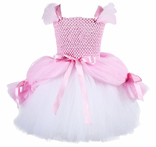 Little Mermaid Costume Pink Dress (Tutu Dreams Pink Girls Costume Mermaid Dress Up Large)