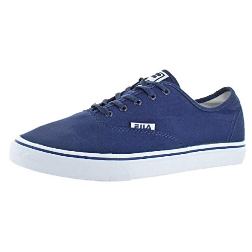 Fila Canvas Navy Shoe Navy Classic Casual White Men's rXwxzIr