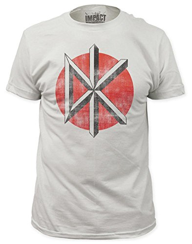 Distressed Logo Mens T-shirt - Dead Kennedys Distressed Logo T-Shirt - White(Medium)