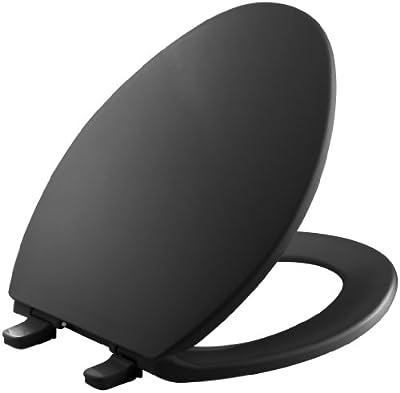 Kohler K-4774-7 Brevia Elongated Toilet Seat with Q2 Advantage, Black Black
