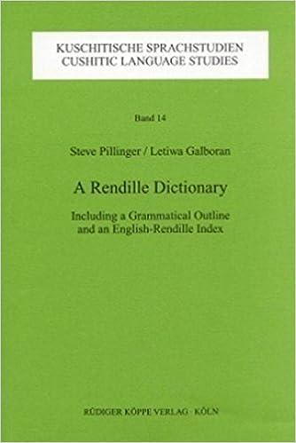 Descarga gratuita de audiolibros para el ipod.A Rendille Dictionary: Including a Grammatical Outline and an English-Rendille Index (Kuschitische Sprachstudien) by Steve Pillinger (1999-06-07) PDF RTF B01HC12YCG