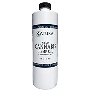Hemp Oil Anti-Inflammatory_Pain Relief_100% Pure_Cold Pressed_High Vegan Omegas 3 & 6_No Fillers or Additives, Therapeutic Grade (16 Ounce) from Naked Supplements