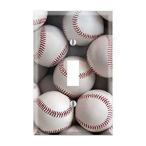 BASEBALL Light Switch Cover, Baseball Light Switch Plate, Baseball Fan, Man Cave, Gag Gift, Baseball Kids Room, Baseball Switch Cover TF52