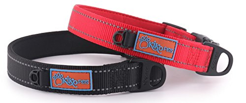 Kiko Pets Small Red Collar made with Neoprene extra Padded Dog Collar, Reflective Stitching, ID Dog (Replacement Neoprene Inserts)