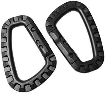 6 Stück Tac Link Kunststoff Karabiner D-Ring Schlüsselanhänger-Clip Federhaken Moll Taktischer Rucksack Outdoor Camping Schnalle Karabiner Reisekit