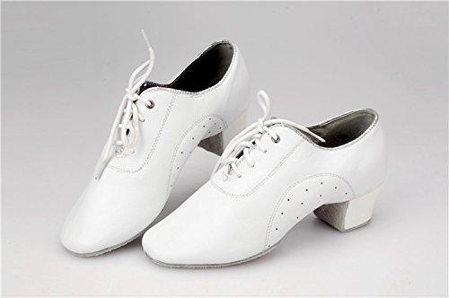 Miyoopark Leather Salsa White Shoes Lace up Tango Latin Men's KBTS013A Wedding xIaSTx