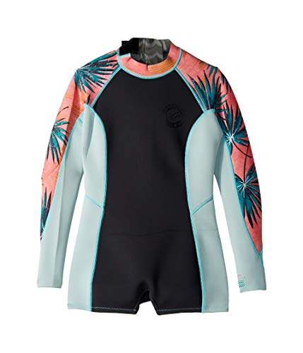 Billabong Women's Spring Fever Long Sleeve Springsuit, Coral Bay, 4 (Wetsuit Spring Women)