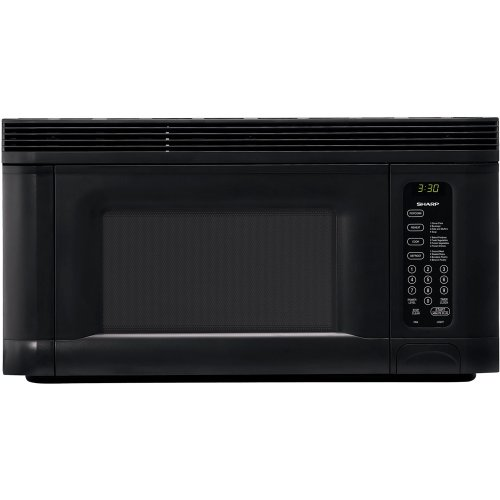 Sharp R-1405 950-Watt 1-2/5-Cubic-Foot Over-the-Range Microwave, Black