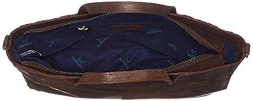 Sansibar Zip Bag - Bolsos maletín Mujer Marrón (Dark Brown)