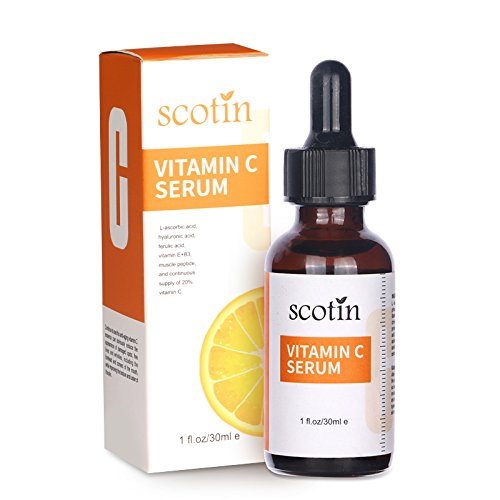 Natural 20% Vitamin C Serum with Vitamin E and B3, Organic Anti-Aging Moisturizer Serum for Skin Care, Pure Vitamin for Anti-wrinkle