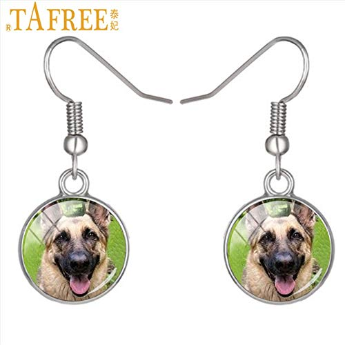 Drop Earrings - hot Fashion Dog German shepered Dangle Earrings Beagle Labrador Pug Bulldog Greyhound Drop Earrings for Women Jewelry DG6 - by Mct12-1 PCs -