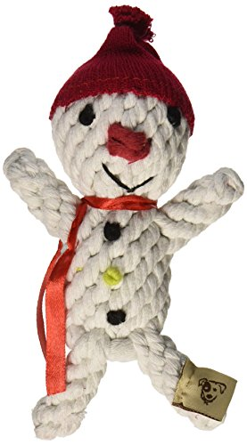 Jax and Bones Good Karma Holiday Rope Dog Toy, 6-Inch, Scott The Snowman ()