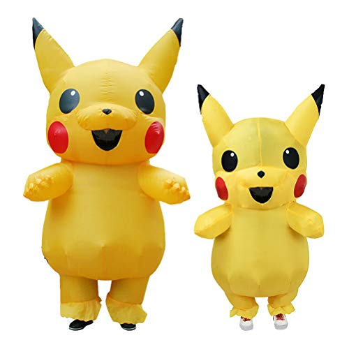 ANOTHERME Inflatable Pikachu Fancy Dress for Children | Halloween Costume | Blow Up Costume Yellow]()