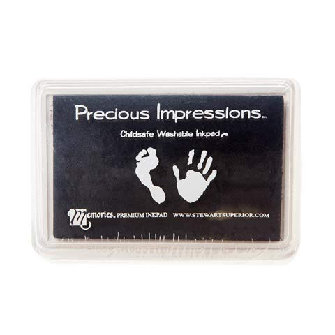 Darice Precious Impressions Ink Pad Foot Black (12 Pack)