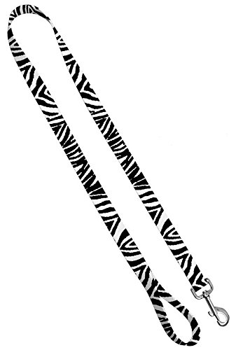 Moose Pet Wear Deluxe Dog Leash - Patterned Heavy Duty Pet Leashes, Made in the USA - 3/4 Inches x 4 Feet, Zebra