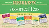 Bigelow 6 Assorted Herbal Teas 18-Count Boxes (Pack of 6) Caffeine-Free Individual Herbal Tisane Bags, for Hot Tea or Iced Tea, Drink Plain or Sweetened with Honey or Sugar